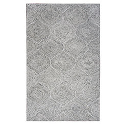 Gray and Ivory Space Dyed Area Rug, 5x8