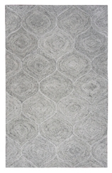 Gray and Ivory Space Dyed Area Rug, 8x10