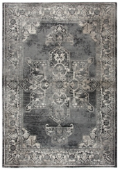 Gray and Taupe Medallion Area Rug, 5x8