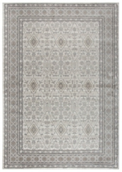 Beige and Gray Traditional Border Area Rug, 8x10