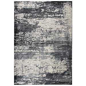 Gray and Tan Abstract Area Rug, 8x10