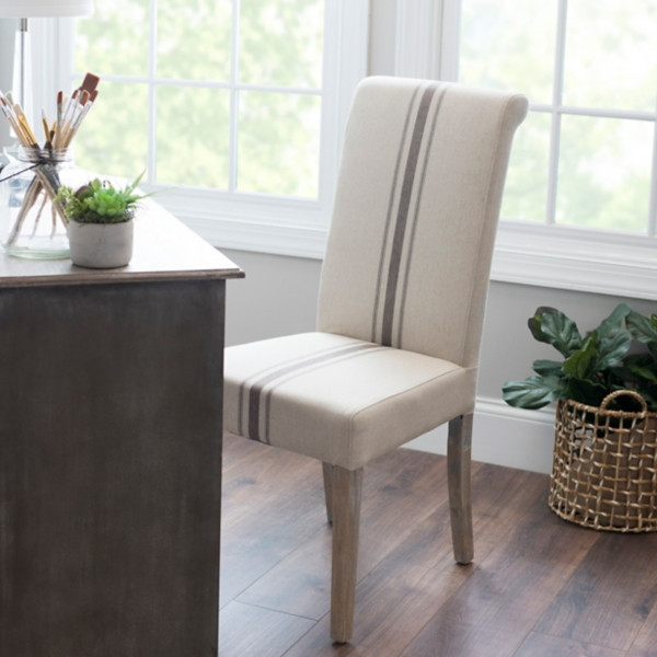 Middle Stripe Weathered Wood Dining Chair Part 74