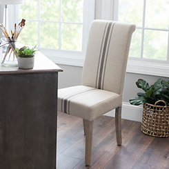 Middle Stripe Weathered Wood Dining Chair