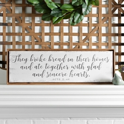 They Broke Bread Framed Canvas Art Print