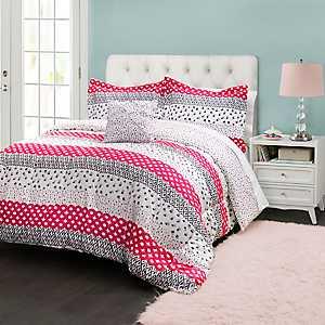 Hot Pink Franny 3-pc. Twin Comforter Set