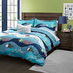 Blue Seaworld 3-pc. Twin Comforter Set