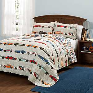 Race Car 2-pc. Twin Quilt Set