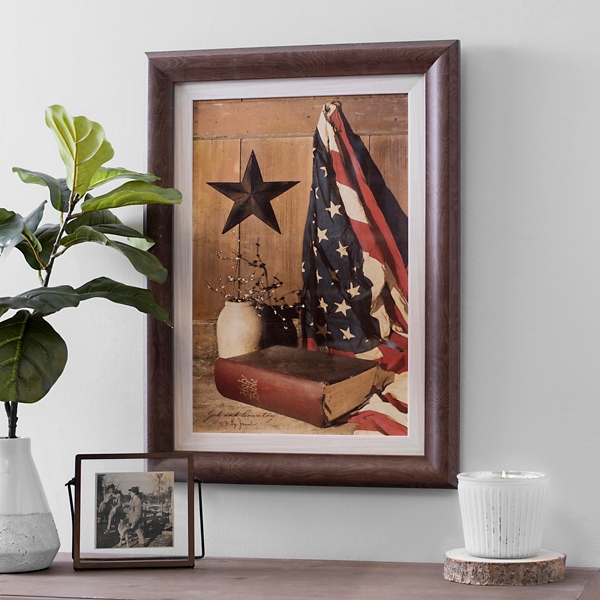 God And Country Framed Art Print