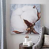 Blue Cotton Boll Canvas Art Print