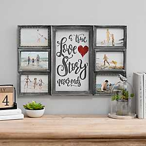 True Love Story Never Ends 6-Opening Collage Frame