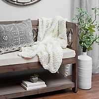 Ivory Chunky Knit Blanket