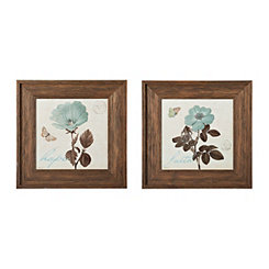 Touch of Blue Framed Art Prints, Set of 2