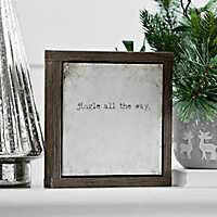 Jingle All the Way Framed Tabletop Canvas Block