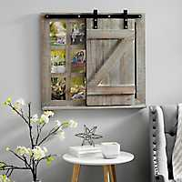 Sliding Barn Door Chalkboard Collage Frame, 5x7
