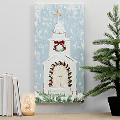 Christmas Church Canvas Art Print