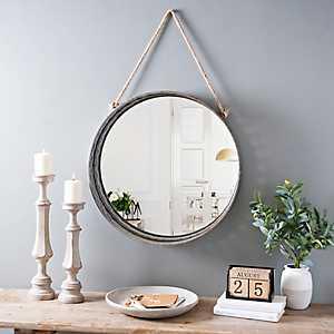 Galvanized Metal Rope Hanging Mirror