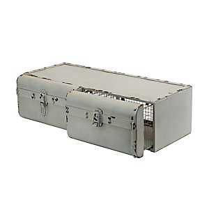 Decorative Metal Suitcase 2-Drawer Organizer Shelf
