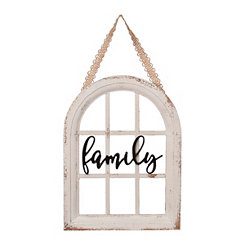 Family Windowpane Hanging Wall Plaque