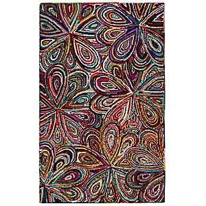 Bright Floral Fiora Area Rug