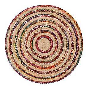 Akumal Round Jute And Cotton Rug, 6 ft.