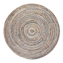 Kerala Round Jute And Denim Rug