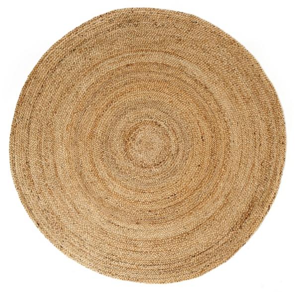 kerala round natural jute rug