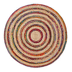 Akumal Round Jute And Cotton Rug, 8 ft.