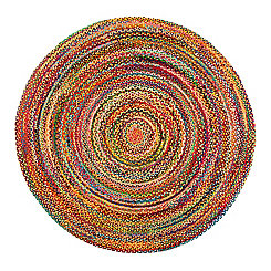 Sayulita Round Cotton Rug, 8 ft.