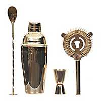 Gold Stainless Steel 4-pc. Bar Accessory Set