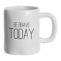 Be Brave Today Hammered Mug