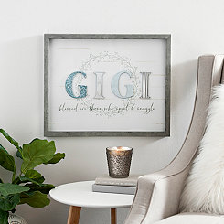 Blue and Gray Gigi Shadowbox