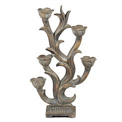 Floral Vines Candle Holder Tree