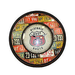 Route 66 Metal Wall Clock