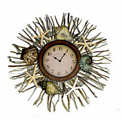 Sea Branches Wall Clock