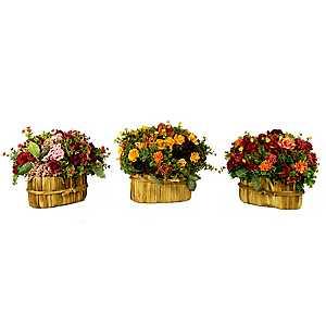 Blooming Garden Floral Arrangements, Set of 3