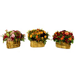 Blooming Garden Floral Arrangements, Set of 3