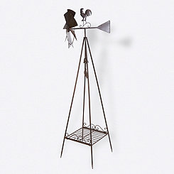 Windmill Weather Vane Plant Stand, 70 in.