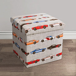 Race Car Collapsible Storage Ottoman