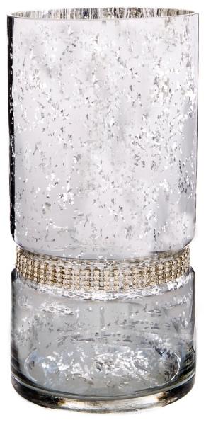rustic metal antler pillar candle holder silver diamonds hurricane cylinder candle holder
