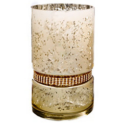 Gold Diamonds Hurricane Cylinder Candle Holder