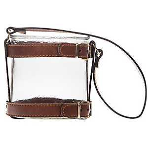 Faux Brown Leather Hanging Lantern
