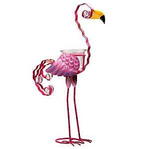 Pink Flamingo Votive Holder