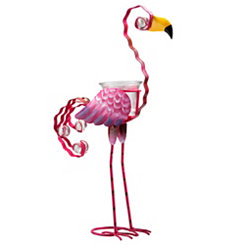 Pink Flamingo Votive Holder