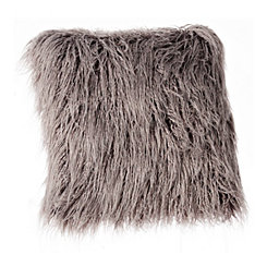 Gray Shag Mongolian Fur Pillow