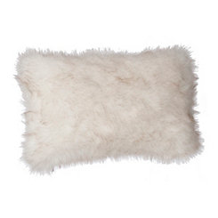 Dyed Tip Faux Fur Accent Pillow