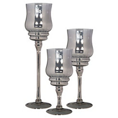 Platinum Glass Charismas, Set of 3