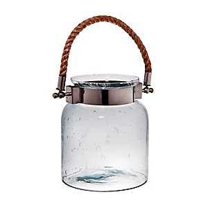Clear Port Glass Jar Lantern, 9 in.