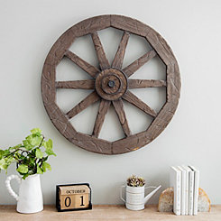Wagon Wheel Wood Wall Plaque