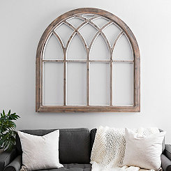 Victoria Arch Window Wood Wall Plaque