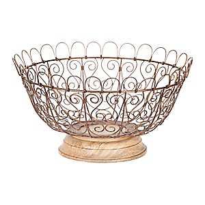 Bronze Wire Fruit Basket